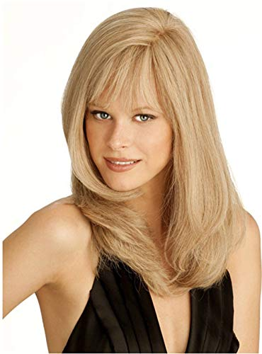 äischen und amerikanischen Mode Damen Karte Seide AD Perücke lange glatte Haare ()