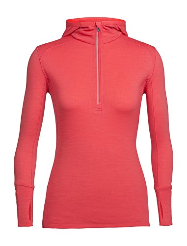 Icebreaker 230 Rush Longsleeve Half Zip Hood Shirt Women - Kapuzenpulli (Pullover Icebreaker Womens)