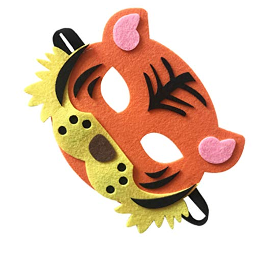 Provide The Best Cartoon Tiere Half Face Kinder Maske Kindertagesgeburtstag verkleiden Kostüm Maske Zoo Jungle Party Supplies