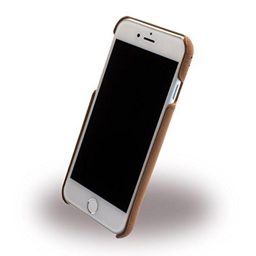 Ferrari FEHOHCP7BKR Hart Schutzhülle für Apple iPhone 7, Echtleder schwarz/silber gold