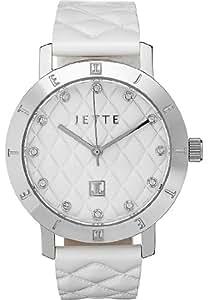 JETTE Time Damen-Armbanduhr MODERN BASIC Analog Quarz One Size, weiß, weiß
