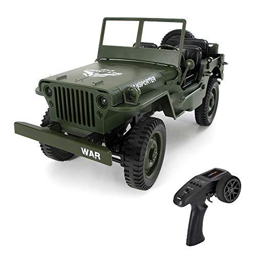 goolsky jjr/c q65 1/10 2.4g 4wd rc off-road military truck transportador 6 rtr juguete infantil regalo niños (verde)