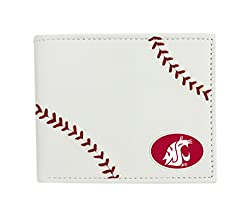 NCAA Washington State Cougars Leather Wallet, White, N/A
