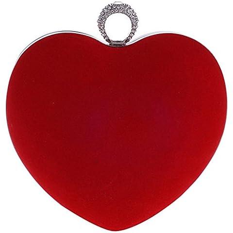 Auspicious beginning amore borsa catena a forma di cuore della frizione sera