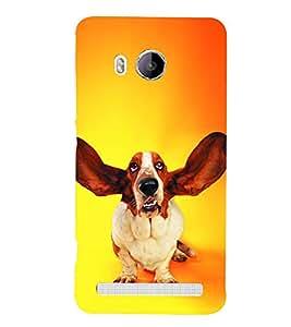 PrintVisa Dog With Up Ears 3D Hard Polycarbonate Designer Back Case Cover for vivo Xshot