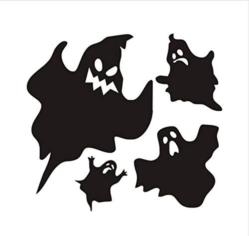 Wandaufkleber Nette Geister Halloween Wandaufkleber Wasserdichte PVC DIY Autofenster Wandtattoos Für Wohnzimmer Dekoration 44X40 cm