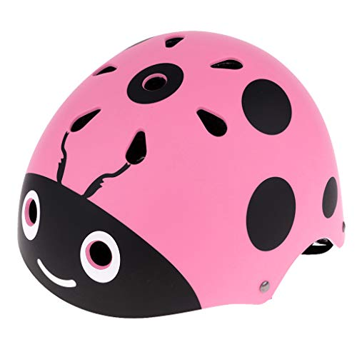 perfk Kinderhelm, Motorradhelm oder Fahrradhelm für Kinder Rosa