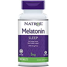 Natrol Melatonina tiempo Relase Tablets, 3 mg, 100 count, 1