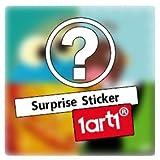 1art1® Set: Selena Gomez, Triptych Tasse À Café Mug (9x8 cm) + 1x Sticker Surprise
