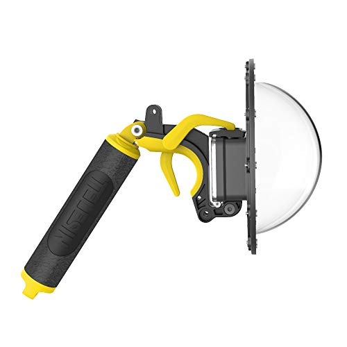 TELESIN Dôme de plongée pour GoPro Hero 8 - Couverture Transparente pour Photographie sous-Marine,Boîtier étanche pour Hero 8 Black Accessoire,avec Déclencheur à Pistolet Ensemble