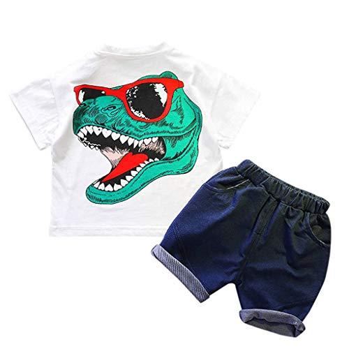 n T-Shirt Shorts Outfits Set Alwayswin Jungen Mädchen Dinosaurier Kurzarm Babykleidung Zweiteilig Sommer Cool Sport-Outfit Freizeit Mode Wild Kinderbekleidung ()