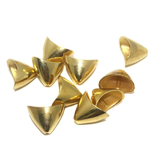 BEADSNFASHION Jewellery Making Acrylic Bead Caps Golden, Size 22X22 mm, Pack Of 50 Pcs