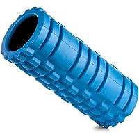 Home Treats - Rodillo masajeador muscular profundo de espuma, terapia de punto de activación, núcleo hueco ultraligero (naranja), azul