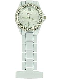 Boxx White Enamel Nurses/Beauticians Fob Watch