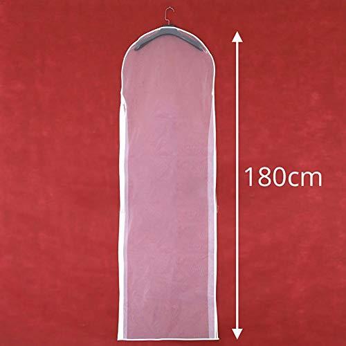Terynbat Kleidersack für Hochzeitskleider, Transparente Kleidersack, atmungsaktiver Hochzeit Brautkleid Staubschutzhülle mit Reißverschluss für zu Hause Kleiderschrank Kleid Aufbewahrungstasche, 180cm