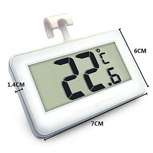 Romote suo SI Thermomètre de réfrigérateur, Mini LCD Digital étanche Réfrigérateur congélateur thermomètre, console Frost Alarme Température Monitor (...