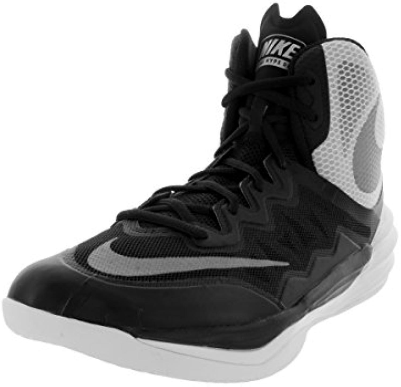 Nike Prime Hype DF II - Zapatillas Unisex, Color Negro/Plata/Blanco, Talla 41.5