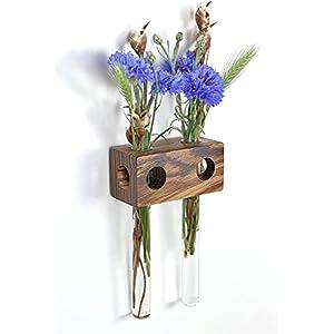 Fenstervase Zebrano 2er Blumenvase Test Tube Vase Flower Vase