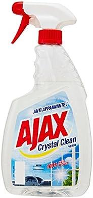 Ajax – tvättmedel Crystal Clean, glasrengörare, med ammoniak, 100% magnesiumlegering – 6 st. 750 ml [4500 ml]