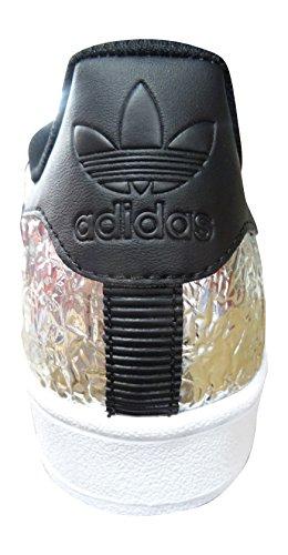Adidas Superstar Herren Sneaker SILVMT/CBLACK/FTWWHT AQ2951