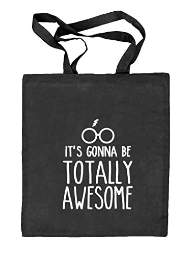 Shirtstreet24, Totally Awesome, Harry Natur Stoffbeutel Jute Tasche (ONE SIZE) schwarz natur