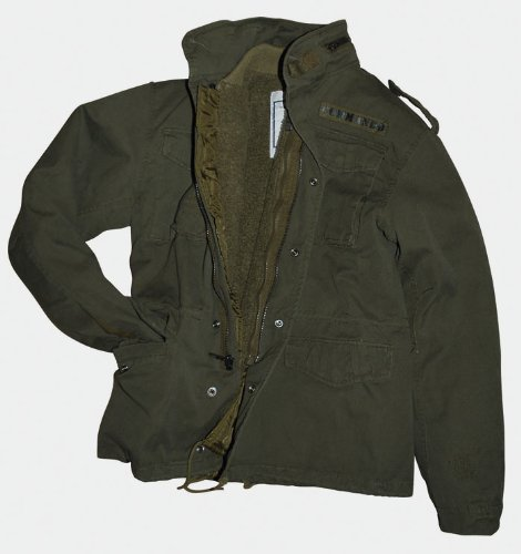 Casella giacca M65 Field Jacket Vintage Style Army giacca olivastro-Washed taglia XL