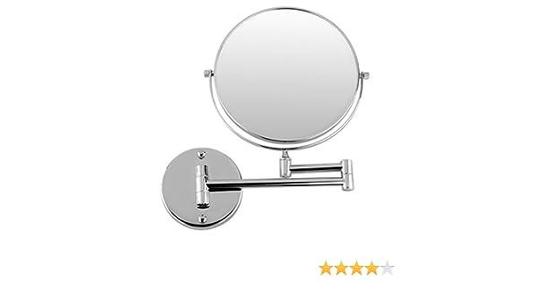 Toogoo r specchio da bagno estensibile cromato rotondo