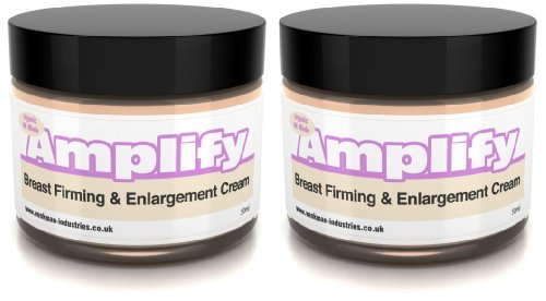 Amplify - 30 Day Breast Firming Cream - 11 Ways To A Fuller, Firmer Bust - FAST - UK Made 100% Natural & Organic - 2 x 50ml