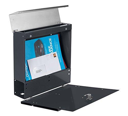 Frabox LENS Edelstahl / Anthrazitgrau Design Briefkasten - 6