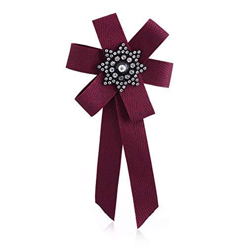 THTHT Frau & Mann 6308 Langes Band Big Stripe Bowknot Shirt Bow Tie Pins Kragen Zubehör Mode Schmuck Rot Stripe Bow Tie