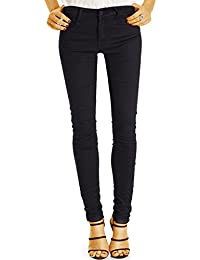 Bestyledberlin Damen High Waist Skinny Jeans, Sehr enge Röhrenjeans, Dünne Basic Sommerhose j21k
