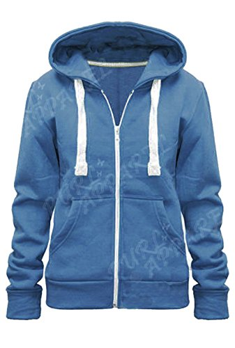 KIDS PLAIN HOODIE, Denim, 9-10 Years