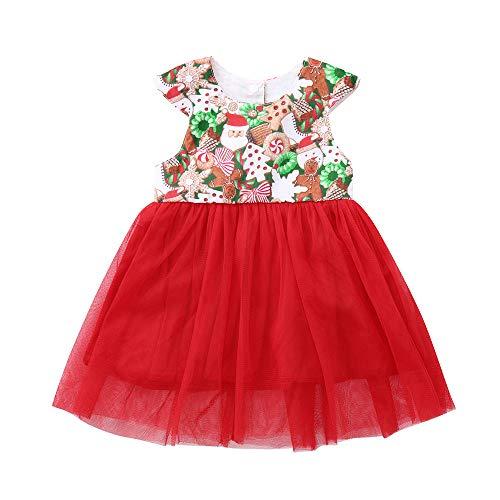 bestshope Kleinkind Kleinkind Baby Mädchen Weihnachten Weihnachten Tutu Tüll Kleid ()