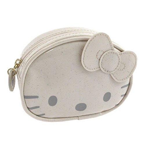 Hello Kitty by camomilla - porte-monnaie glitter funny face - ecru