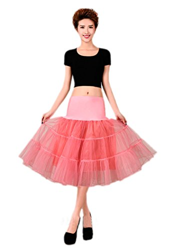 Kostüme Diy 1950 (Honeystore Wedding bridal 1950 Petticoat Reifrock Unterrock Petticoat Underskirt Crinoline für Rockabilly Kleid Wassermelone)
