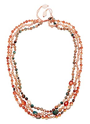 Lola Rose Ipanema 3 Row Tie Dye Agate Necklace of Length 50cm