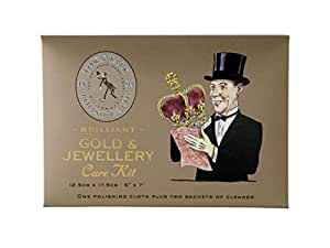 Town Talk Jewellery Brilliant Gold Care Kit Polishing Cloth Two Sachets Cleaner Cleaning Solution