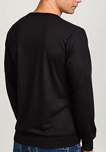BOLF Herren Sweatshirt Pulli Langarmshirt Rundhals Classic ATHLETIC 0594 Schwarz_2611