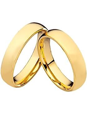 Eheringe Verlobungsringe Trauringe Partnerringe aus Tungsten Gold ohne Stein und individueller Laser Gravur W775