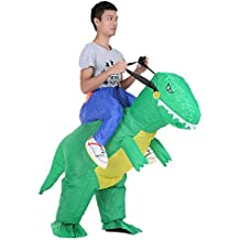 Anself Inflatable Costume for Christmas Party, Walking Dinosaur