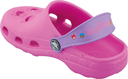 Coqui sabots pour enfant unisexe chaussures **lilas, fuchsia, bleu, rouge, bleu, jaune, rouge, bleu, noir ** - fuchsia/lila