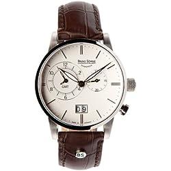 Bruno Söhnle Men's Quartz Watch with Milano GMT Analogue Quartz Leather 17-13043-241