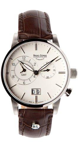 Bruno Söhnle Herren Analog Quarz Uhr mit Leder Armband 17-13043-241