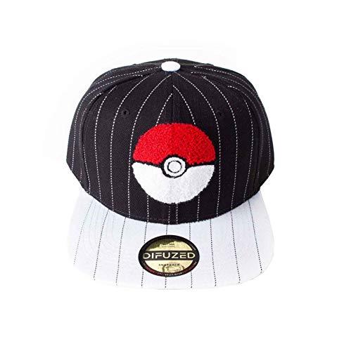 Nintendo Pokemon Baseball Cap Pokeball Logo Varsity Nue offiziell Schwarz Snapback