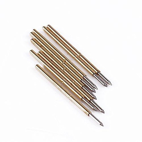 Keenso 100 Stücke Feder Druck Isolierte Schnelle Piercing Prüfspitze Kegel Nadel Runde Pogo Pin Werkzeuge Schwere Metall P50-J1 / P50-B1 / P75-B1 / P75-E2 / P100-E2 0,68 mm -
