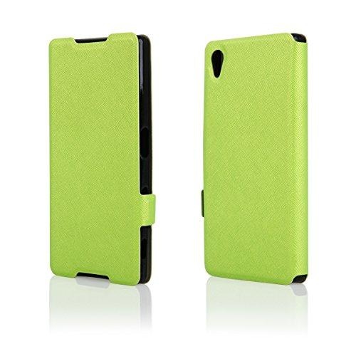 Ego® Flip Case Soft Custodia per Smartphone Book Wallet Cover portatile borsa in ecopelle rigida custodia verde