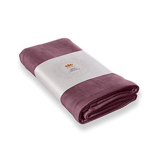 Lotuscrafts Couverture de yoga « Savasana » coton Bio AUBERGINE