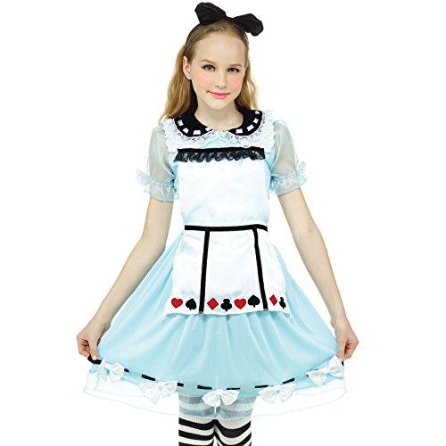 nderland Anime Kostüm Lolita Kleider Dienstmädchen-Outfit für Party Karneval Halloween ()