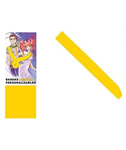 Banda Amarilla Personalizable para Fiestas