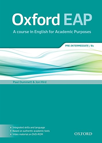 Oxford EAP: Oxford English for Academic Purposes Pre-Intermediate. Student's Book + DVD Pack